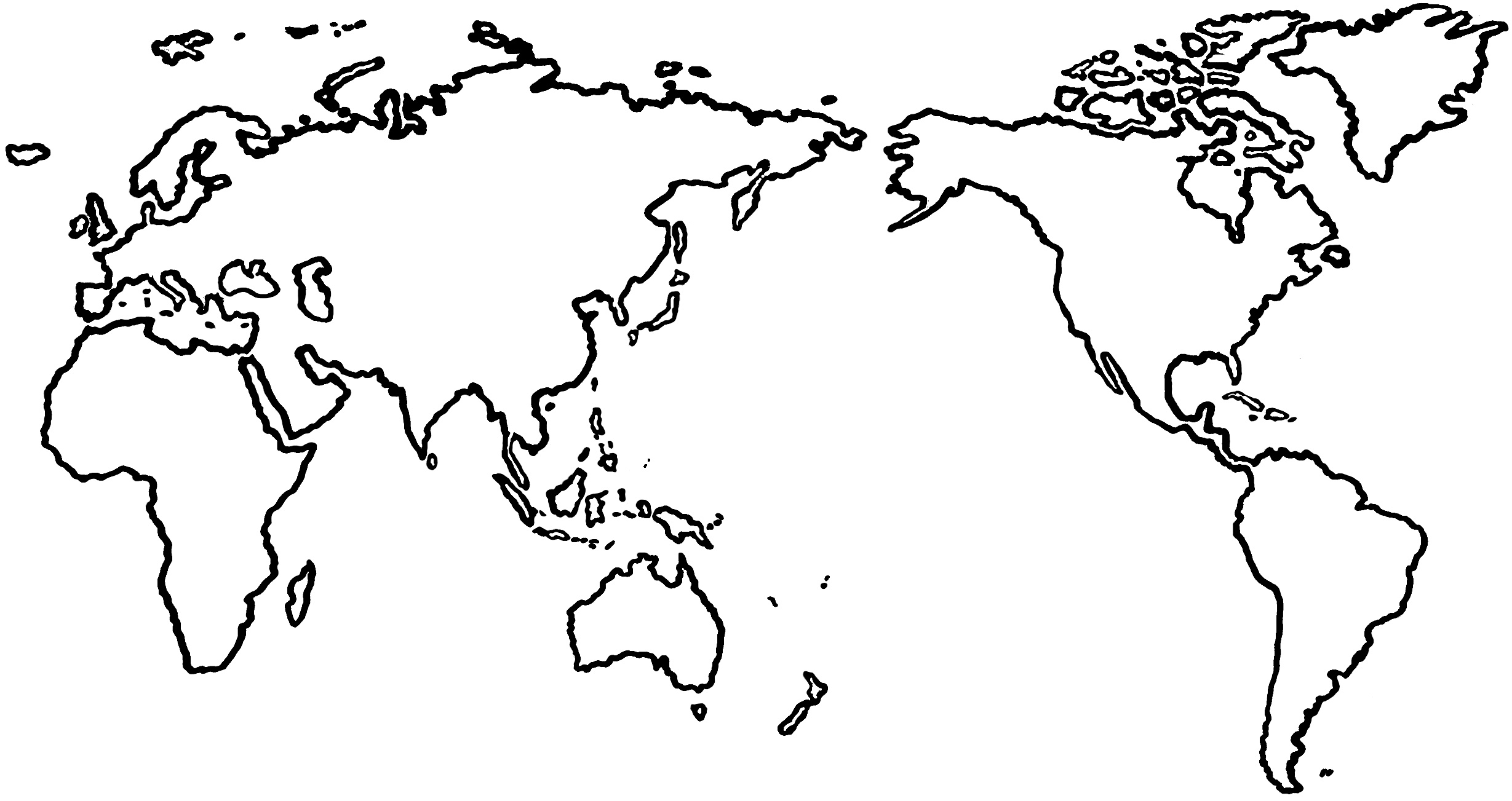 Maps World Map Template